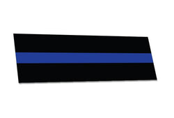 Thin Blue Line Bumper Sticker, 3.5 x 11 Inches