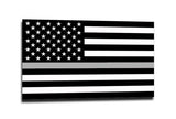 Thin Silver Line American Flag Sticker, 4 x 6.5 Inches