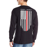 Long Sleeve T-Shirt - Thin Red Line Flag