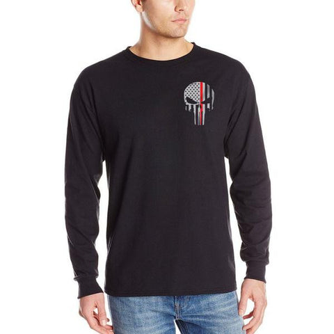 Long Sleeve T-Shirt - Skull Thin Red Line