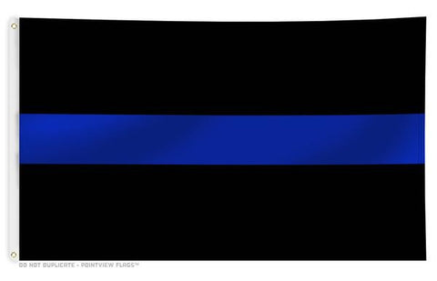 Thin Blue Line Flag with Grommets