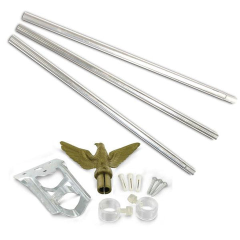 Residential Flagpole Set  - 6 Ft. Steel