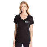 Women's T-Shirt – Thin Blue Line V-Neck