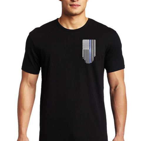 Men's T-Shirt – Thin Blue Line Flag