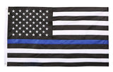 Thin Blue Line American Embroidered/Sewn Flag, SolarMax Nylon, 3 x 5 Feet