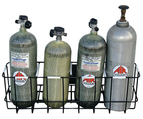 Air Systems Breathing Air Cylinder SCBA Cylinder Storage Rack