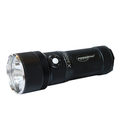 Powertac X3000 - 3000 Lumen Multi-Color LED Flashlight