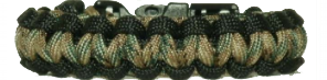 Black with Multi-Cam Paracord Bracelet
