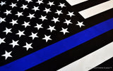 Thin Blue Line American Flag with Grommets,  4 x 6 Ft