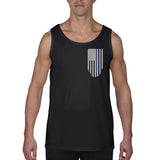 Men's Tank – Thin Blue Line American Flag, Honor & Respect