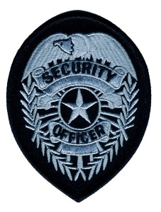SECURITY OFFICER Badge - Silver/Black