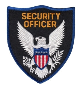 SECURITY OFFICER - Royal Blue Border - 3-3/4 x 4-3/8