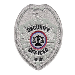 SECURITY OFFICER - Silver Badge - 2-1/2 X 3-1/2""