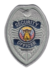 SECURITY OFFICER - Silver/Navy Badge - 2-3/8 X 3-1/2