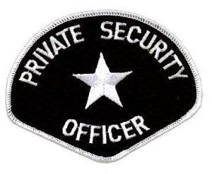 PRIVATE SECURITY OFFICER - White/Black - 4-3/4 x 3-3/4