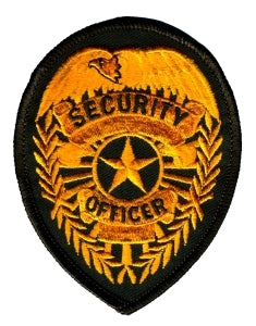 SECURITY OFFICER Badge - Dark Gold/Brown