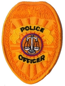 POLICE OFFICER - Gold Badge - 2-1/2 X 3-1/2""