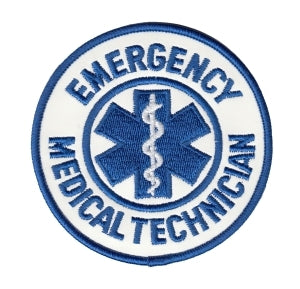 "EMERGENCY MEDICAL TECHNICIAN - Reflective White - 3-1/2"" Circle"