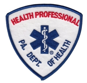 E M T - PA. DEPT. OF HEALTH - PARAMEDIC - 3-3/4 x 3-3/4""