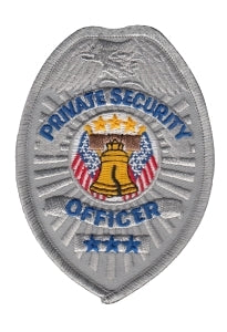 Badge - Silver - PRIVATE SECURITY OFFICER - 2-1/2 x 3-1/2