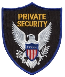 PRIVATE SECURITY - Royal Blue Border - 3-3/4 x 4-3/8""