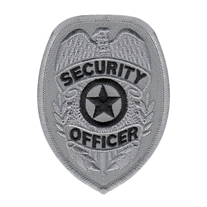 Silver SECURITY OFFICER Badge - 2-3/8 x 3-1/4""