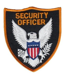 SECURITY OFFICER - Dark Gold Border - 3-3/4 x 4-3/8