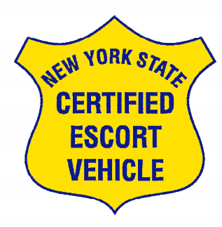 New York State Certified Escort Vehicle Decals - Contour Cut (Pair of 2)