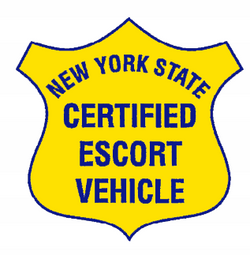 New York State Certified Escort Magnetic Sign - Single