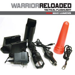 Powertac Warrior Reloaded G2 - 850 Lumens (Law Enforcement Edition) - LED Flashlight w/ Recharge Station