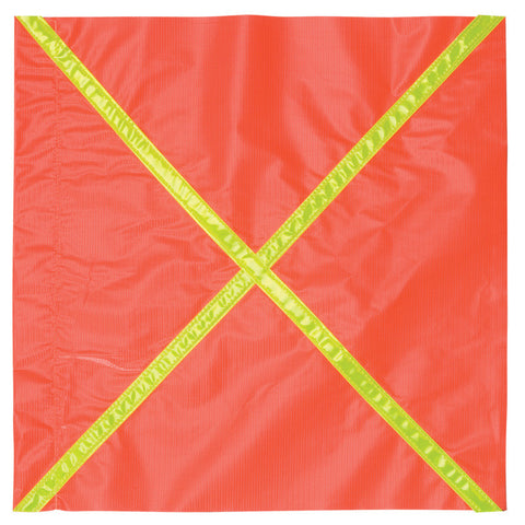 Vinyl Safety Flag with Reflective Stripe