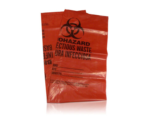 "Safetec Red Bag 33"" x 39"",1.3 Mil (Case of 150)"