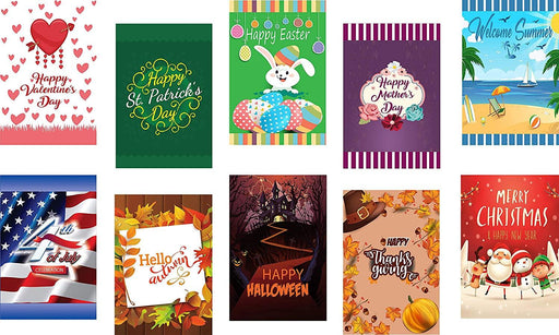 Seasonal Garden Flags 10PK - Classic Elegance - BeautifulLife Store