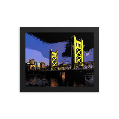 Choose To Rep 8×10 Sacramento - Framed photo paper poster