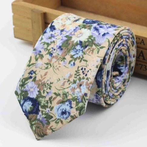 Blue Floral Tie - Choose To Rep