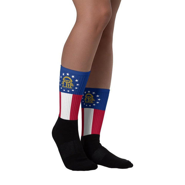 Georgia State Socks Choose To Rep Country Flag Socks, State Socks, Flag Socks, Patriotic Socks, Patriotic Products, Country Watches
