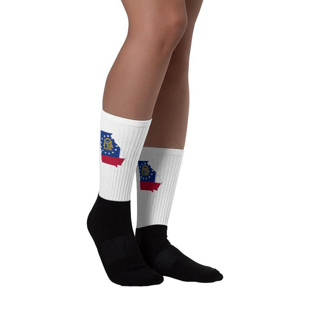 Georgia - State Socks Choose To Rep Country Flag Socks, State Socks, Flag Socks, Patriotic Socks, Patriotic Products, Country Watches