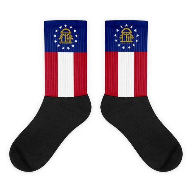 Georgia State Socks Choose To Rep M (6-8) Country Flag Socks, State Socks, Flag Socks, Patriotic Socks, Patriotic Products, Country Watches