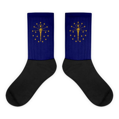 Indiana Flag Socks Choose To Rep M (6-8) Country Flag Socks, State Socks, Flag Socks, Patriotic Socks, Patriotic Products, Country Watches