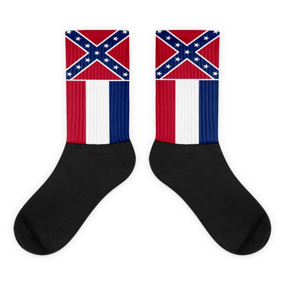Mississippi - Flag Socks Choose To Rep M (6-8) Country Flag Socks, State Socks, Flag Socks, Patriotic Socks, Patriotic Products, Country Watches
