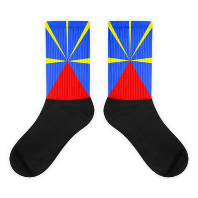 Choose To Rep M (6-8) Reunion Island - Flag Socks