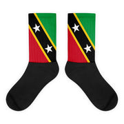 Choose To Rep M (6-8) Saint Kitts and Nevis - Flag Socks