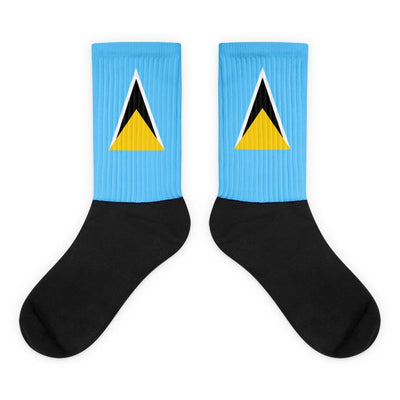 Choose To Rep M (6-8) Saint Lucia - Flag Socks