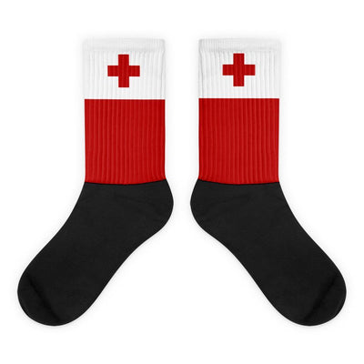 Tonga Flag Socks - Choose To Rep