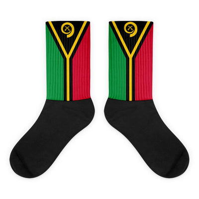 Vanuatu Flag Socks - Choose To Rep