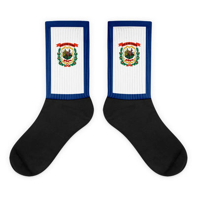 Choose To Rep M (6-8) West Virginia Flag Socks, state socks, country socks, city socks
