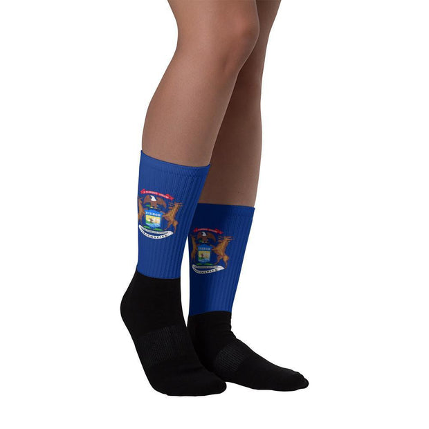 Michigan - Flag Socks Choose To Rep Country Flag Socks, State Socks, Flag Socks, Patriotic Socks, Patriotic Products, Country Watches