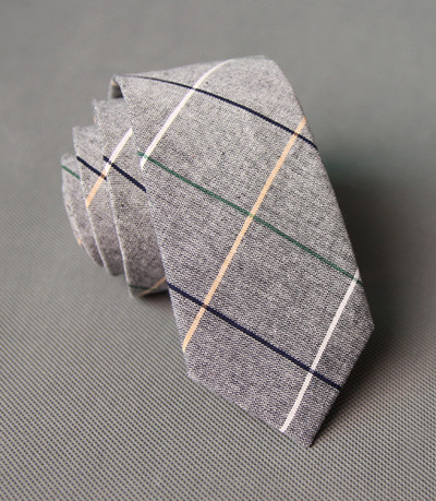 Choose To Rep Plaid Cotton Necktie