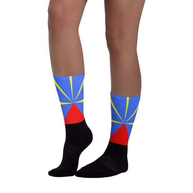 Choose To Rep Reunion Island - Flag Socks