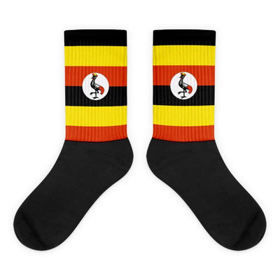 Choose To Rep Uganda - Flag Socks